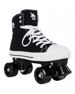 Rookie Canvas High Rollerskate in Zwart