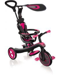 """Globber """"Trike Explorer"""" 4 in 1 in het Roze"""