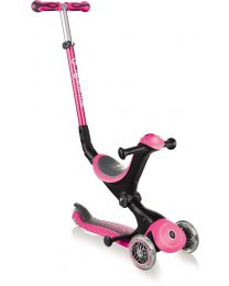 "Globber Go Up ""4 in 1"" Deluxe in Roze"