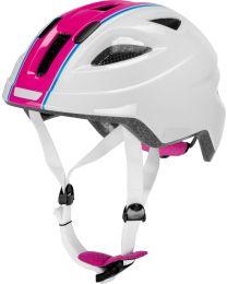 Puky Helm PH8 in Wit en Roze - M