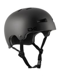 TSG Evolution helm in Zwart en Zwart logo