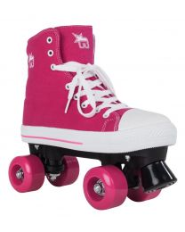Rookie Canvas High Rollerskate in Roze