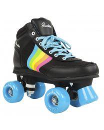 Rookie Forever V2 Rollerskate in Zwart met Regenboog