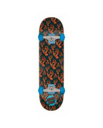 Santa Cruz Skateboard Hands Allover in Zwart en Rood 7,5""