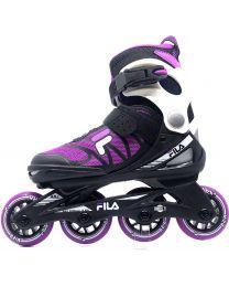 Fila J-one verstelbare kinderskate in het Zwart en Roze