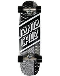 Santa Cruz Street Skate Cruiser in Zwart en Wit